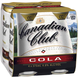 Photo of Canadian Club Whisky & Cola Cans