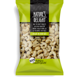 Photo of Nature's Delight Roasted & Unsalted Cashews 500g