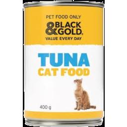 Photo of Black & Gold Cat Food Tuna 400g