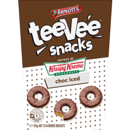 Photo of Arnotts Tee Vee Snacks Krispy Kreme Choc Iced Flavoured Biscuits 165g