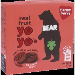 Photo of Bear Real Fruit Yo Yo's Strawberry 100g