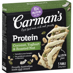 Photo of Carmans Protein Bar Coconut, Yoghurt & Roasted Nut 200g