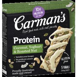 Photo of Carman's Coconut, Yoghurt & Roasted Nut Protein Bars 5x40g