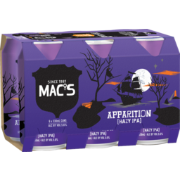 Photo of Mac's Apparition Beer Hazy India Pale Ale 6 X 330ml