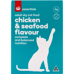 Photo of Homebrand Dry Cat Food Prawn & Tuna 1kg