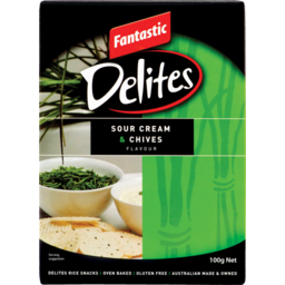 Photo of Fantastic Delites Gluten Free Sour Cream & Chives 100g