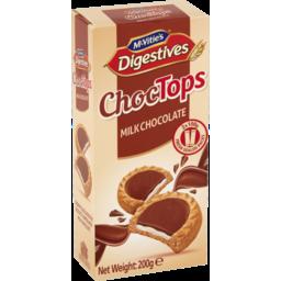 Photo of Mcvities Milk Chocolate Choc Tops Digestive Biscuits 200g