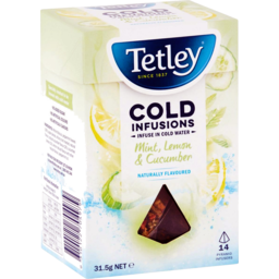 Photo of Tetley Mint Lemon & Cucumber Tea Bags 14pk