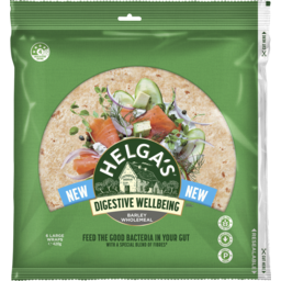 Photo of Helga's Digestive Wellbeing Barley Wholemeal Large Wraps 6 Pack 420g