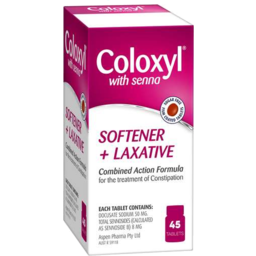 Photo of Coloxyl With Senna Softener + Laxative Tablets 45