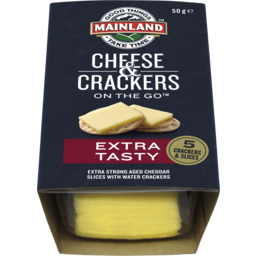 Photo of Mainland Extra Tasty Cheddar Cheese With Water Crackers 50 G