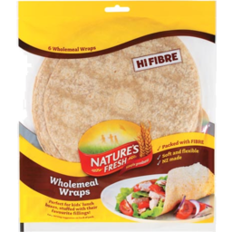 Photo of Natures Fresh Wrap Hi Fibre Wholemeal 300g