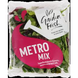 Photo of Living Foods Garden Fresh Salad Metro Mix Superfoods Of Greens Watercress & Dark Reds 120g