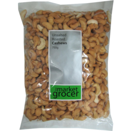 Photo of The Market Grocer Cashews Unsalted 500gm