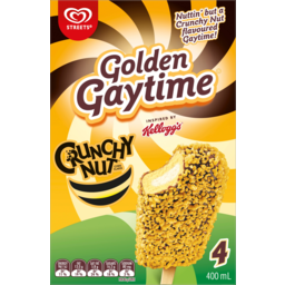 Photo of Streets Kelloggs Crunchy Nut Golden Gaytime 4 Pack 400ml