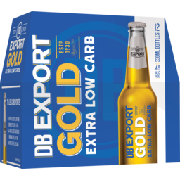 Photo of Export Gold Extra Low Carb 330ml Bottles 12 Pack