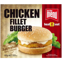 Photo of On The Menu Chicken Fillet Burger 165g
