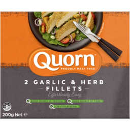 Photo of Quorn Meat Free Garlic & Herb Fillets 2 Pack 200g