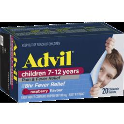 Photo of Advil Children 7-12 Years Chewable Raspberry 20x