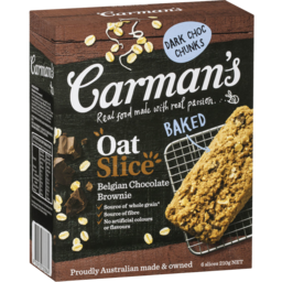 Photo of Carman's Belgian Chocolate Brownie Oat Slice 6x35g