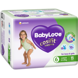 Photo of Babylove Cosifit Nappies 12-25kg 15pk