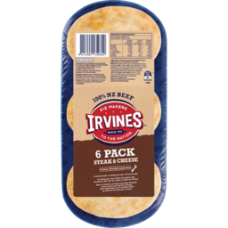 Photo of Irvines Pies Steak & Cheese 6 Pack