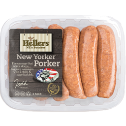 Photo of Hellers Sausages New York Porker 6 Pack