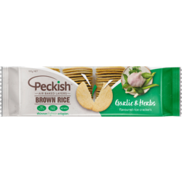 Photo of Peckish Rice Crackers Brown Rice No Salt 100 Gram