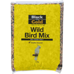 Photo of Black & Gold Wild Bird Mix 2kg