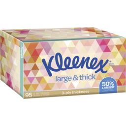 Photo of Kleenex Facial Tissue Large & Thick Silk Touch 95pk