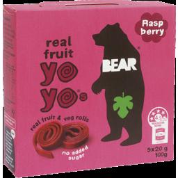 Photo of Bear Real Fruit Yo Yo's Raspberry 100g