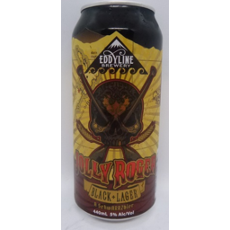 Photo of Eddyline Jolly Roger Black Lager 440ml