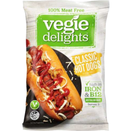 Photo of Vegie Delights 100% Meat Free Classic Hot Dogs 300gm