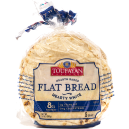 Photo of Toufayan Bakeries Flat Bread Hearty White - 5 Ct