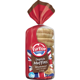 Photo of Tip Top English Muffins Wholemeal 6pk 400g