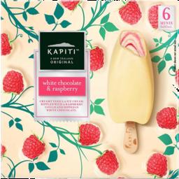 Photo of Kapiti Ice Cream White Chocolate & Raspberry 6 Pack