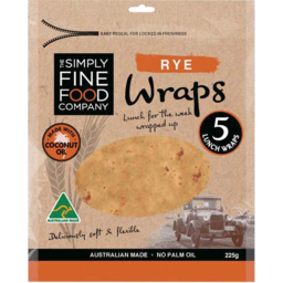 Photo of The Simply Fine Food Company Rye Wraps 225gm
