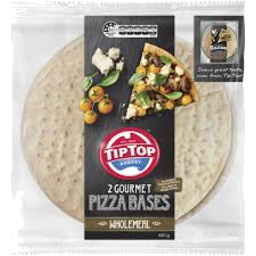 Photo of Tip Top Pizza Bases Wholemeal 12in 2pk