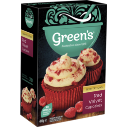 Photo of Greens Red Velvet Cupcakes Mix 410g