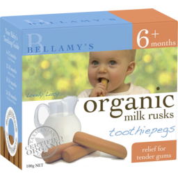 Photo of Bellamy's Organic Toothiepegs Milk Rusks 100g