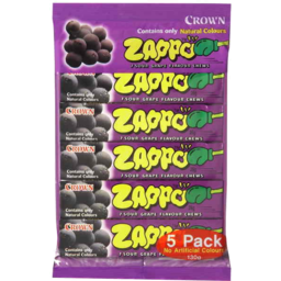 Photo of Zappo Grape Flavour Chews 5pk
