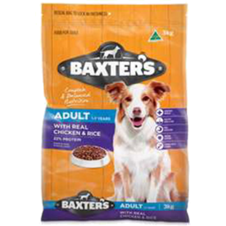 Photo of Baxter's Dry Adult Dog Food, Chicken & Rice 3kg