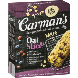 Photo of Carman's Cranberry & Blueberry Oat Slice 6x35g