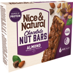 Photo of Nice&Natural Chocolate Nut Bars Almond 6pk 180g 180g