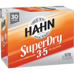 Photo of Hahn Super Dry 3.5 Cans