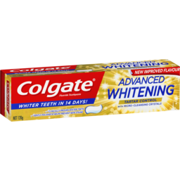Photo of Colgate Advanced Whitening Tartar Control Toothpaste With Micro-Cleansing Crystals 120g