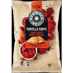 Photo of Red Rock Deli Tortilla Chips Tangy Roast Tomato Relish 165g