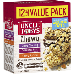 Photo of Uncle Tobys Chewy Variety Bars 12 Pack