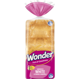 Photo of Wonder White Wonder High Fibre, Vitamins & Minerals White Sliced Bread Sandwich 700g