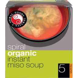 Photo of Spiral Organics Instant Miso Soup 5x10gm
